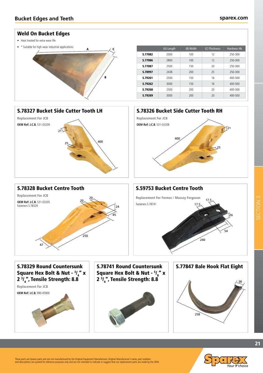 Sparex ® steckbolzen para hubstrebe