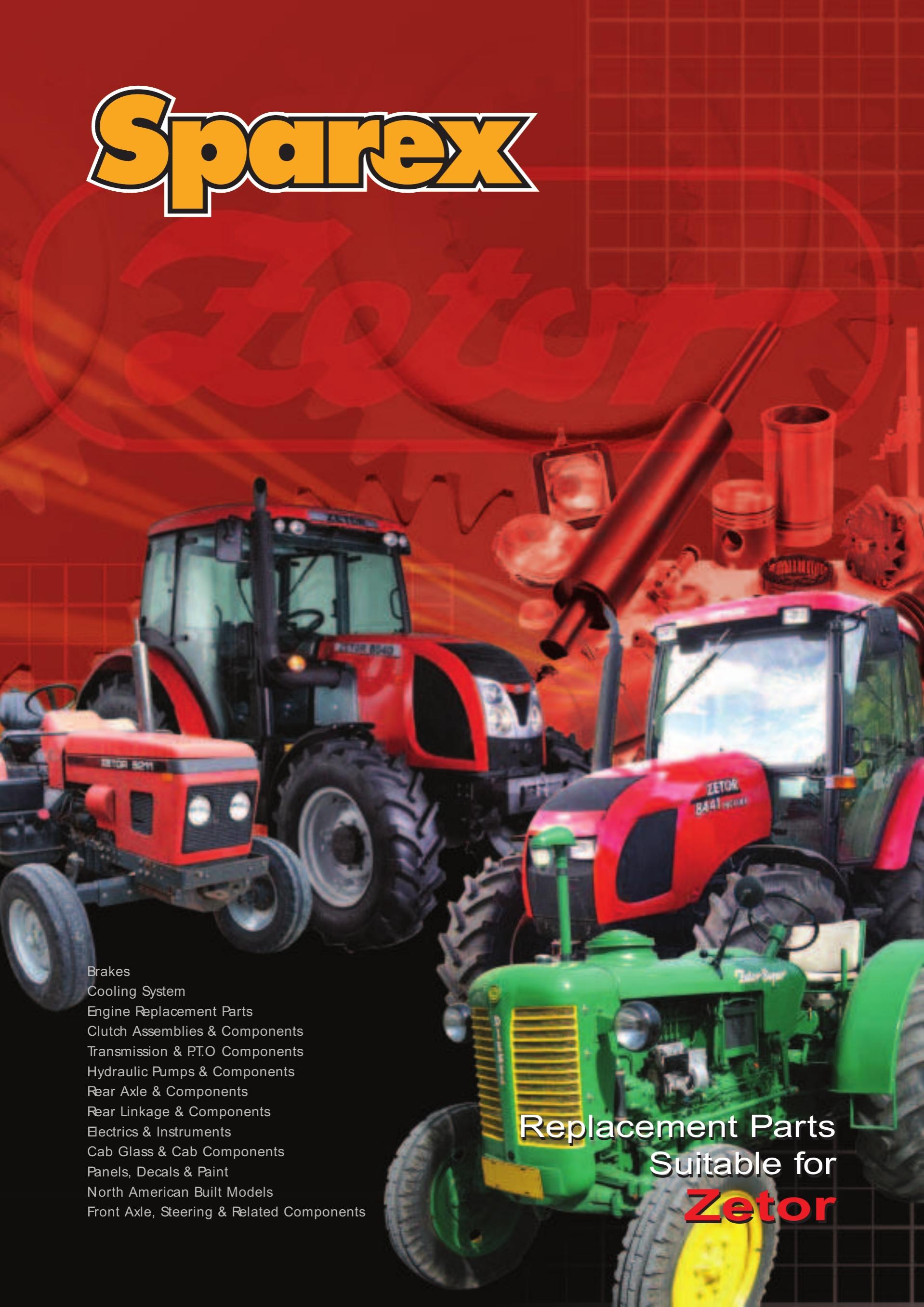 Sparex Catalogues Fordson Major Starter Motor Wiring Diagram S70302ur2 Zetor Volume 2